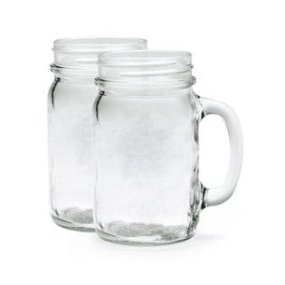 Glass Mason Drinking Cup - 500ml with Lid