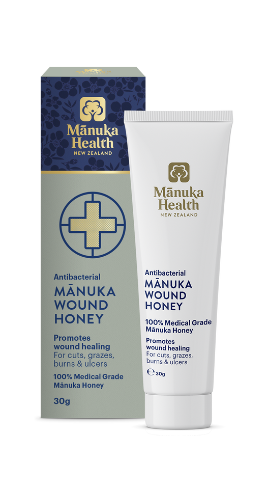 Manuka Health Antibacterial 100% Medical Grade Manuka Wound Honey 30g