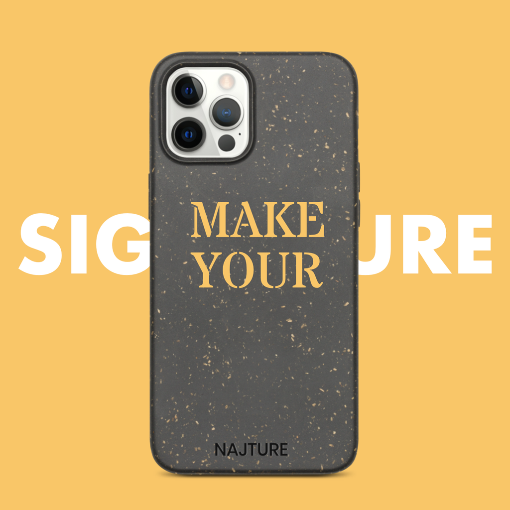 Personalised personalized customized customised phone case for iphone biodegradable compostable iphone case eco-friendly art city explorer case signature