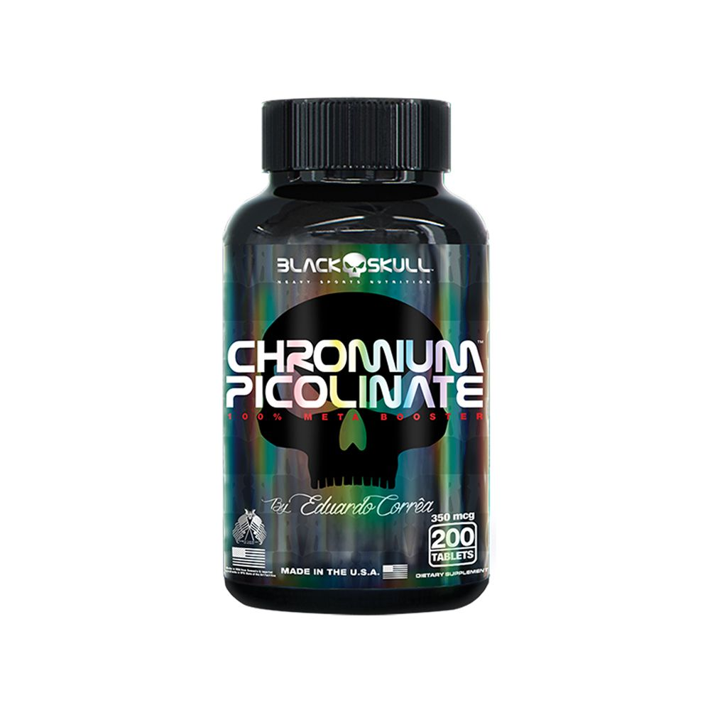 CHROMIUM PICOLINATE - 200 TABLETES