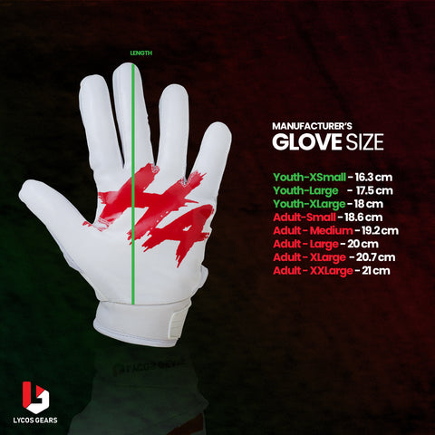 Football Gloves-Size-Chart
