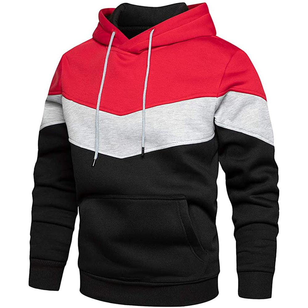 Multi Color Pullover Hoodie - Magenta/White/Black