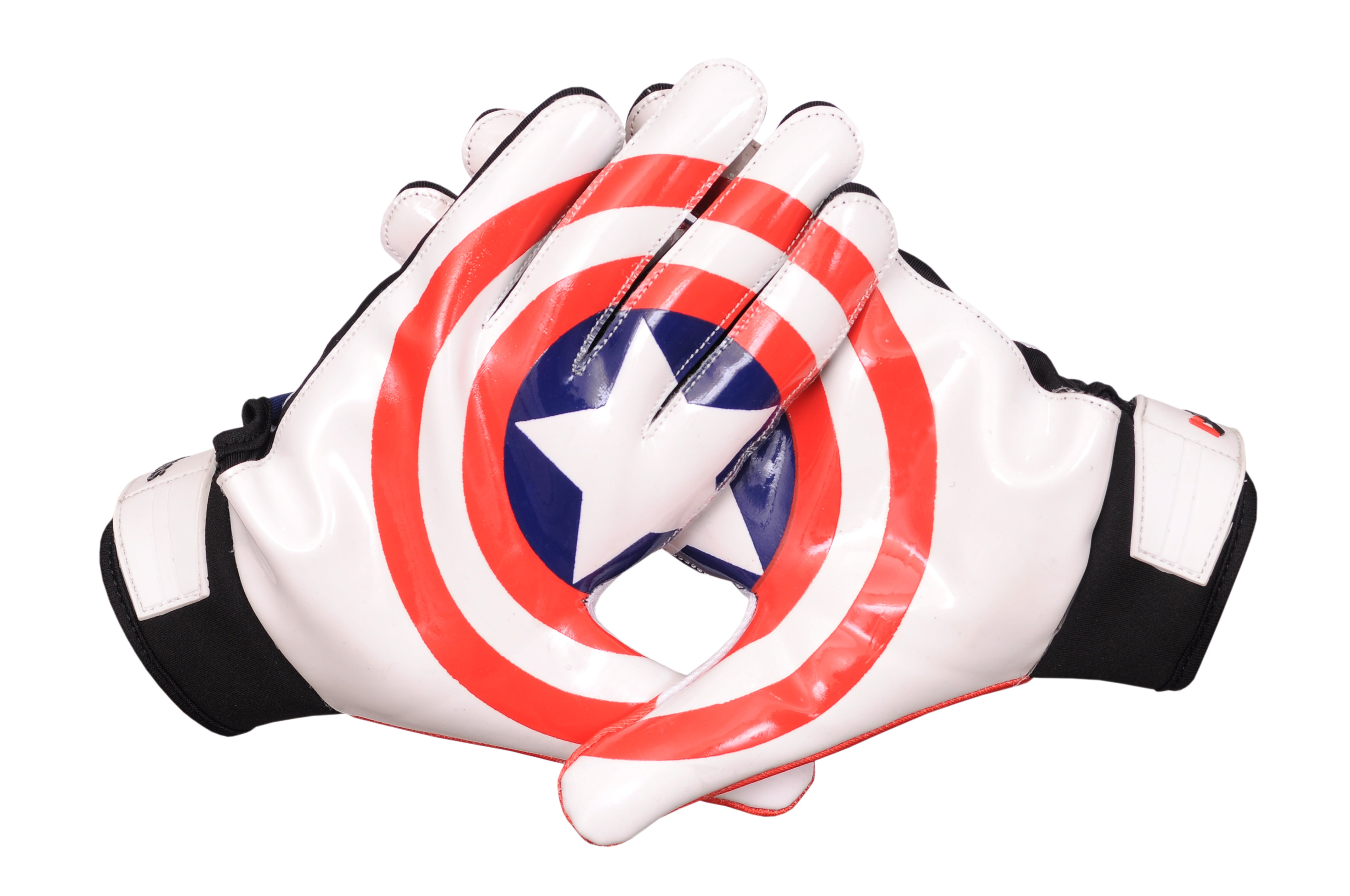 Captain America Football Receiver Gloves
