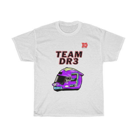 """Team DR3"" White Unisex Heavy Cotton Tee"