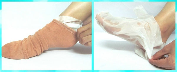 LuxaDerme | Foot Peeling & Exfoliating Mask | LuxaDerme Masks | Rough Feet | Dry Feet | Cracked Heels Treatment | Pedicure