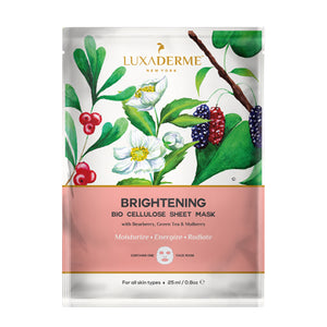 BUY 5, GET 3 FREE - Brightening Bio Cellulose Face Sheet Mask - LuxaDerme