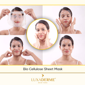 Previous LuxaDerme Firming Bio Cellulose Face Sheet Mask - LuxaDerme