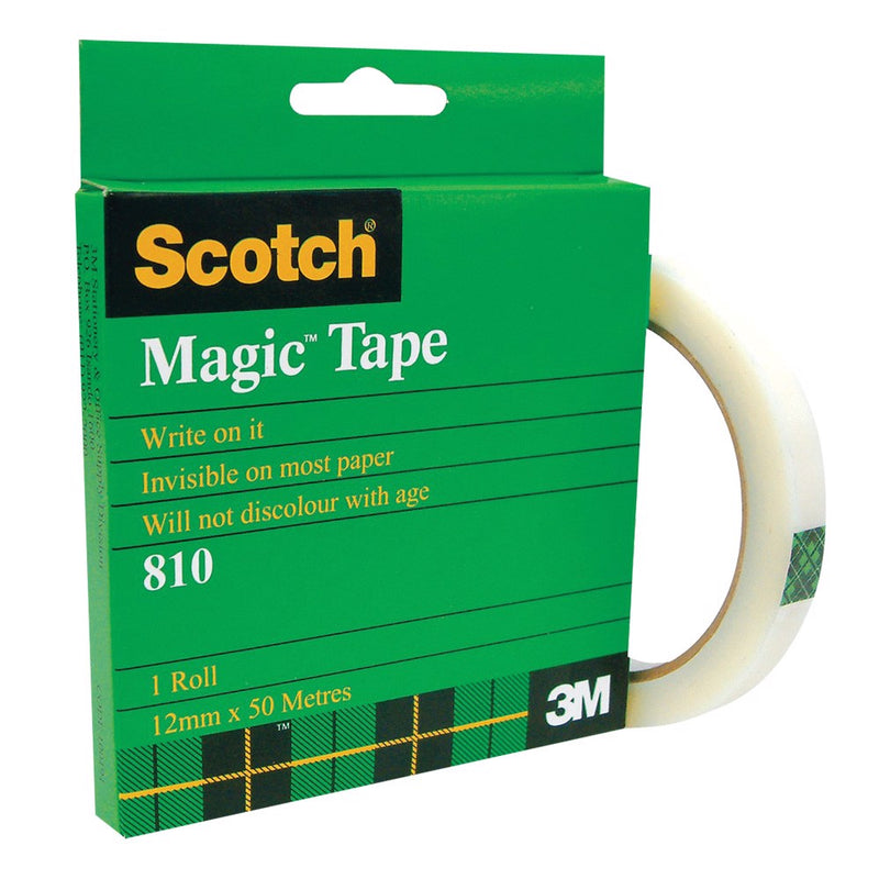 Scotch 810 Boxed Magic Tape 18mm x 25m Clear