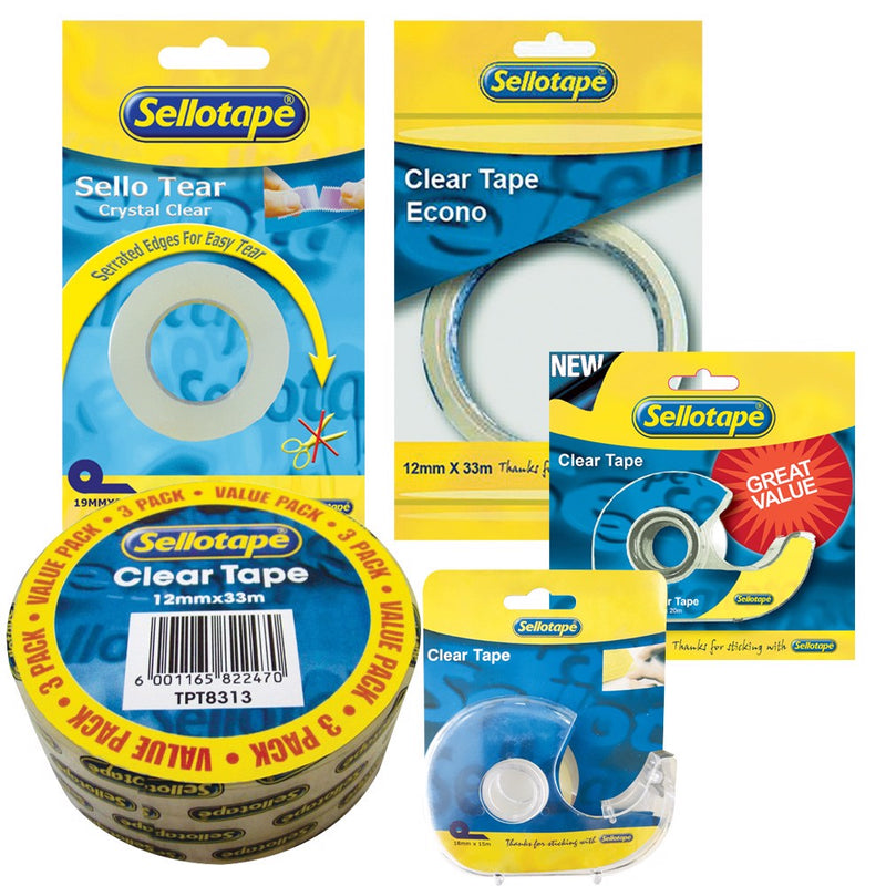 Sellotape Clear Refill 18mm X 33m Carded