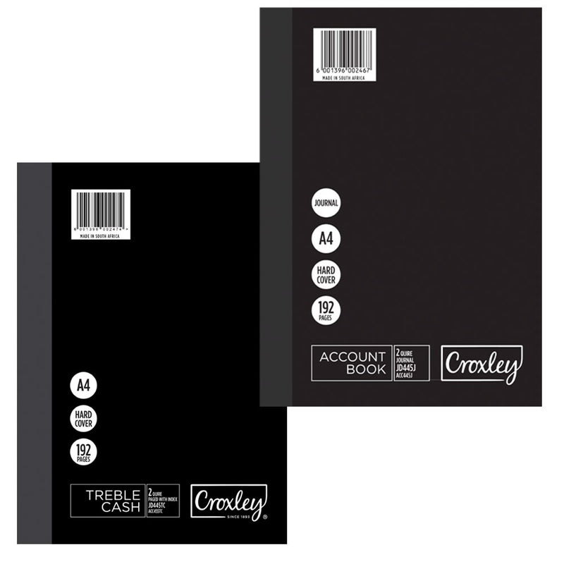 Croxley JD445 A4 Account Book Double Ledger