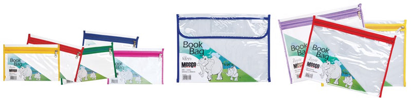 Meeco Book Bag PVC with Velcro Blue