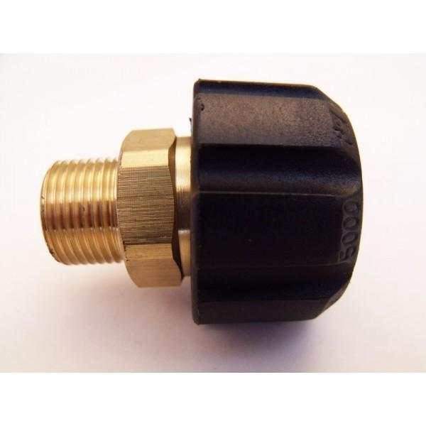 "3/8"" Male to M22 Female high pressure Hose Coupling"