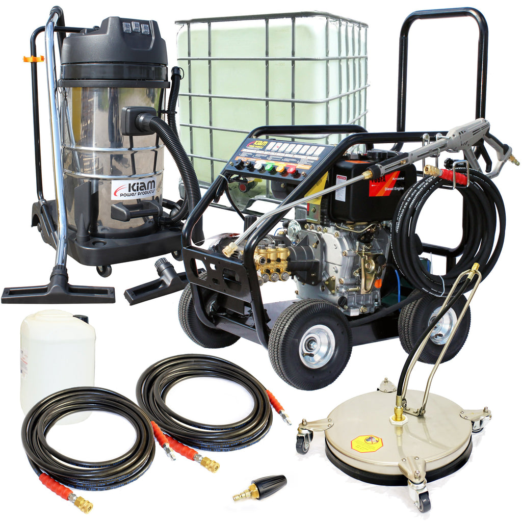 Business Start-Up Pack Pressure Washer - Diesel (KM3600DXR, KV80-3, VT62-420S & Accessories)