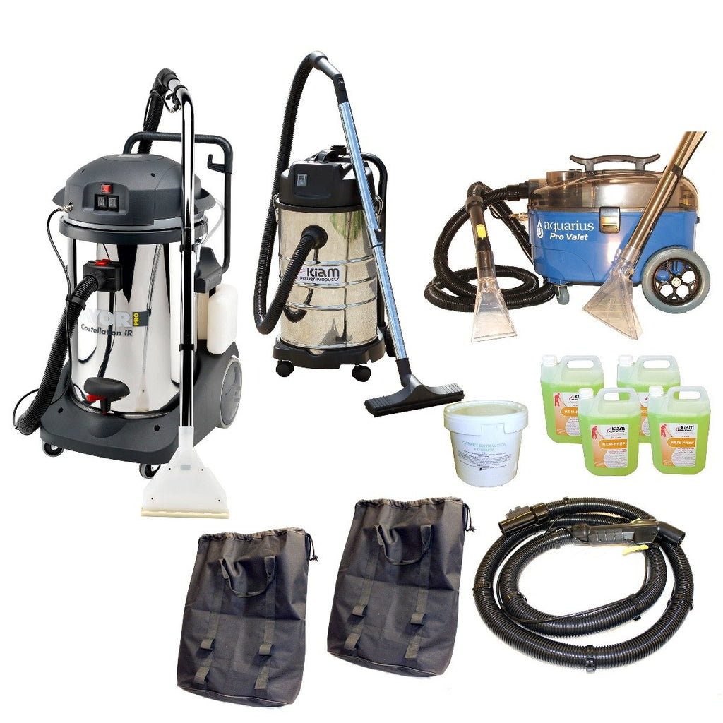 Professional Carpet and Upholstery Cleaning Equipment Business Start-Up Pack (Lavor Costellation)