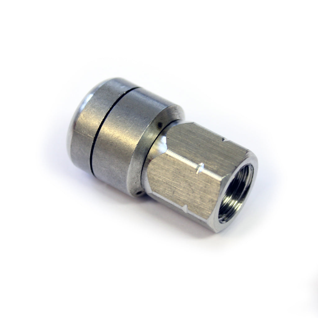 "Stainless Steel Spinning Drain jetting Laser Nozzle for Sewer Cleaning (7300 PSI) (1/4"")"
