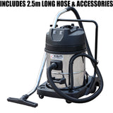 Kiam KV60-2 2400W Twin Motor Industrial Wet and Dry Vacuum Cleaner
