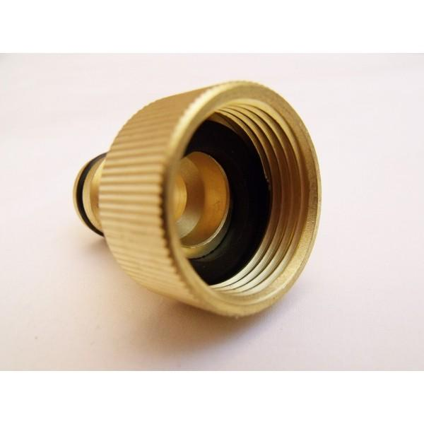 "Garden Hose male connector Quick Release to 22mm (1"") female screw tap connector"