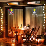 Castle Heaters - 2KW Infrared Outdoor Garden Patio Heater KMH-20 Wall Mounted