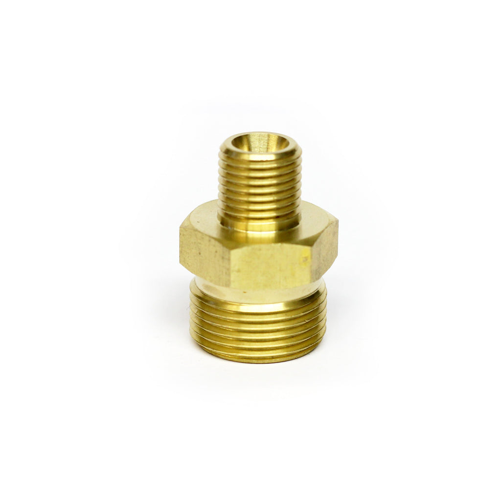 "M22 Male to 1/4"" Male Screw Thread Coupling"