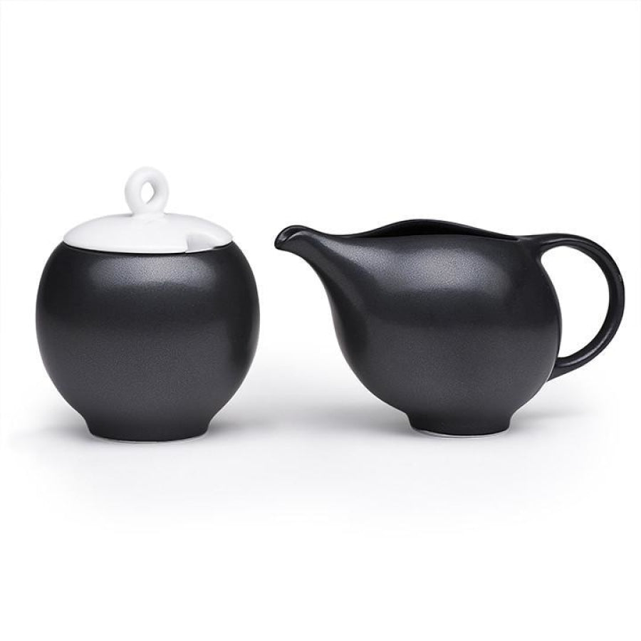 Eva Milk And Sugar Set - Black Matte Home & Garden