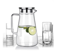 Load image into Gallery viewer, Glass Kettle Water Tea Carefe Durable Cold Bottle Nonslip Home & Garden
