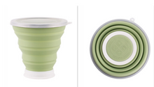 Load image into Gallery viewer, Silicone Folding Cup Green Drinkware