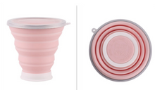 Load image into Gallery viewer, Silicone Folding Cup Pink Drinkware
