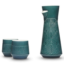 Load image into Gallery viewer, The Miracle Carafe Set Peacock Green Home Decor