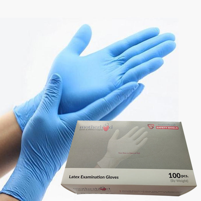 Motherhood Latex Examination Gloves - box of 100 gloves