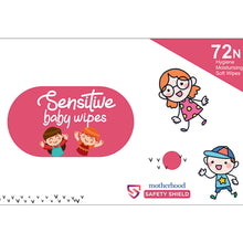 Load image into Gallery viewer, Motherhood Sensitive Baby Wipes - pack of 72 wipes