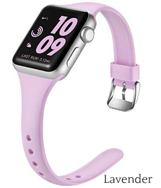 Slim Apple Watch Bands | Skinny Silicone Apple Bands