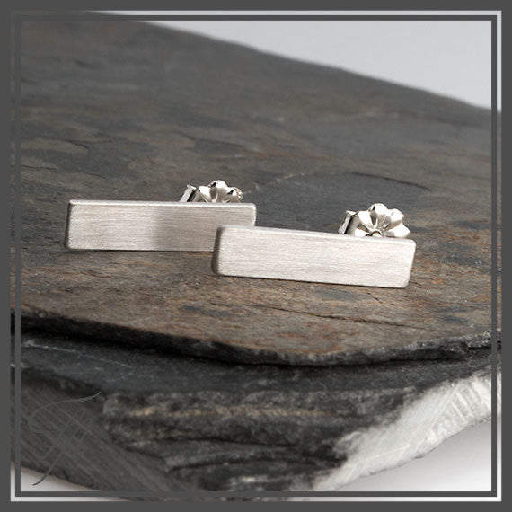 Stainless Steel Slim Bar Earrings