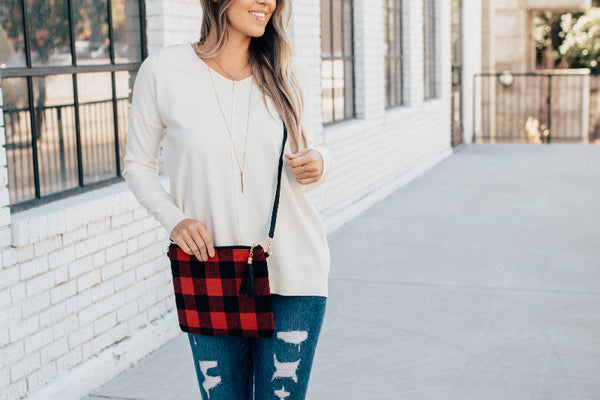 Buffalo Plaid Cross Body Purse