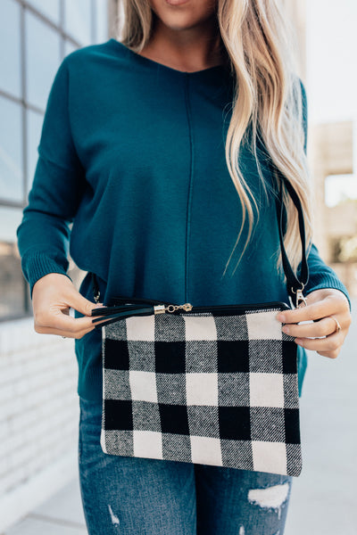 Plaid Cross Body Purse