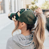 Camo Ponytail Hats