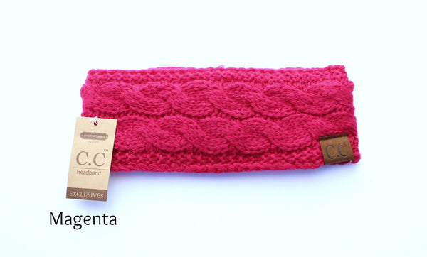 CC Brand Solid Color Reversible Head Wraps | CC Headband