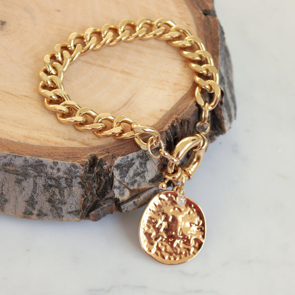 Chain and Coin Bracelet