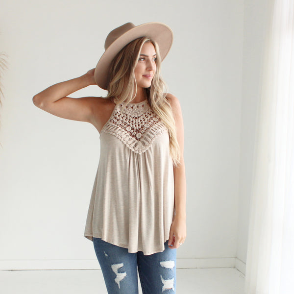 Crochet Halter Tank Top