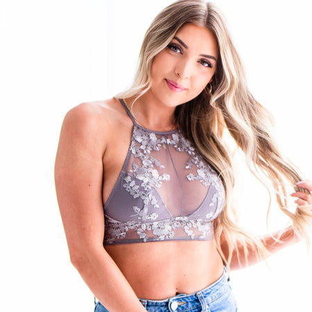 Crochet Lace Trim Bralette