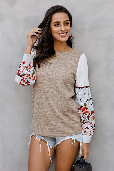 Jadelyn Printed Sleeve Top