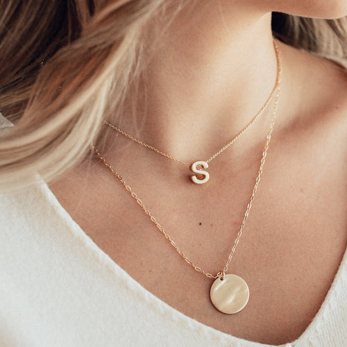 Multi-Layer Initial Necklace