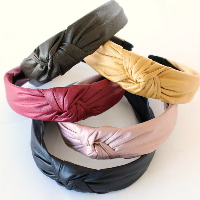 Faux Leather Knot Headband