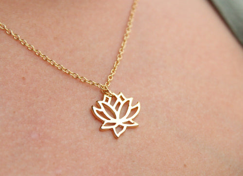 Lotus Flower Necklace | Lotus Jewelry