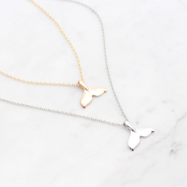 Mermaid Tail Necklace | Silver or Gold
