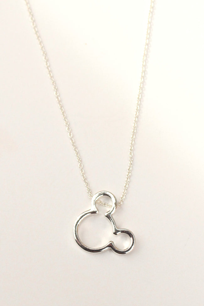 Dainty Mouse Ears Necklace | Mickey Minnie Gold Silver