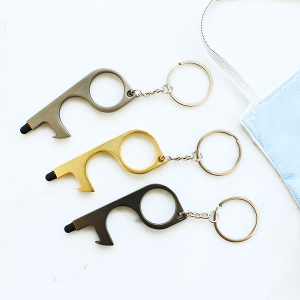 Touch Free Stylus and Door Opener Keychain
