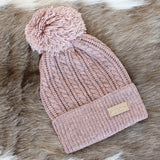 Cable Knit Pom Beanies | Do Everything in Love