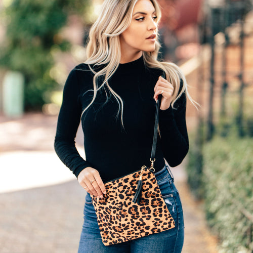 Animal Print Cross Body Purse or Clutch