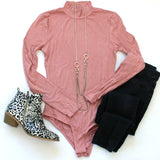 Ribbed Long Sleeve Bodysuit