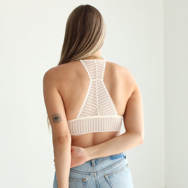 Ribbed Lace Bralette